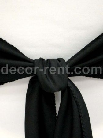 Black Linen Sash (By AP CREATIONS).