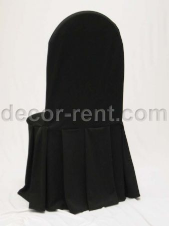 Black Tall Back Banquet Chair Cover.