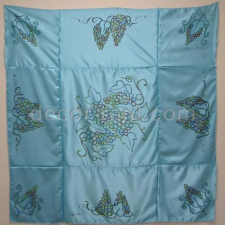 Sky Blue Chuppah Ceiling with Grapes Ornaments