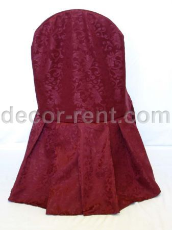 Burgundy King Brocade Banquet Chair Cover
