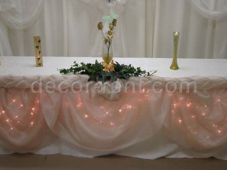 Champagne Organza Headtable Decoration