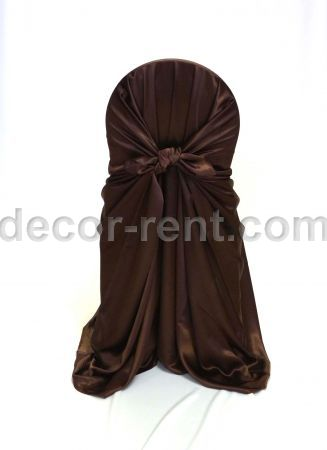 Chocolate Satin Chair Wrap (pocket style)