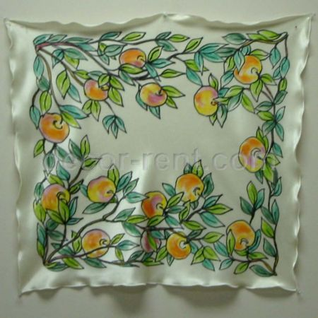 Ivory Chuppah Ceiling with Peaches Ornaments