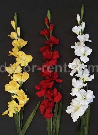 Decor Rent 11 Gladiola Silk Flowers Toronto Weddings