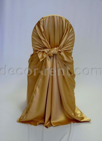 Gold Satin Chair Wrap (pocket style)