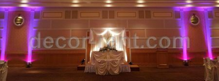 Wedding Backdrop and Table Decor in ivory with rhinestones. Toro