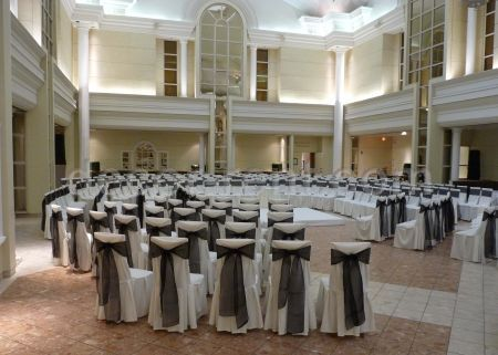Wedding Ceremony at Arcadian Court in Toronto. by decor-rent.com