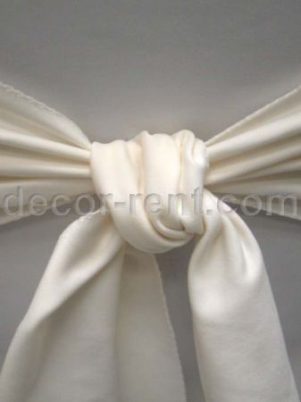 Ivory Linen Sash (By AP CREATIONS)