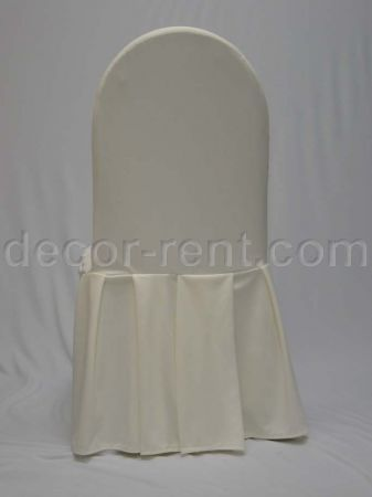 Ivory Tall Back Banquet Chair Cover.