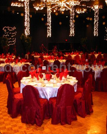 King Brocade Chair Cover Toronto by decor-rent.com