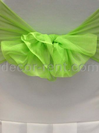 Lime Green Mesh Sash. (By AP CREATIONS).