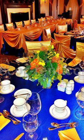 Roayl Blue and Gold Event Decor Setting. Toronto.