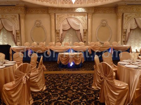 Wedding Decor in Gold and Royal Blue. Vaughan, North Toronto.