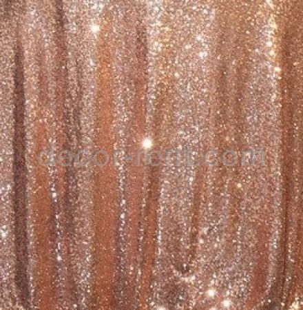 Rose Gold Sequin Linen Rental