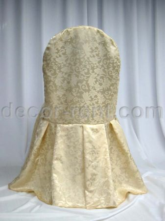 Soft Gold King Brocade Banquet Chair Cover (by AP CREATIONS).