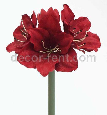Decor Rent 13 Velvet Amaryllis Silk Flowers Weddings
