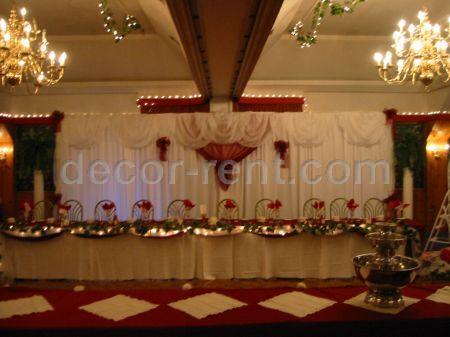 DECOR RENTCOM Wedding Backdrop Decor With Burgundy