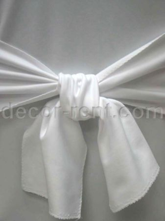 White Linen Sash. (By AP CREATIONS).