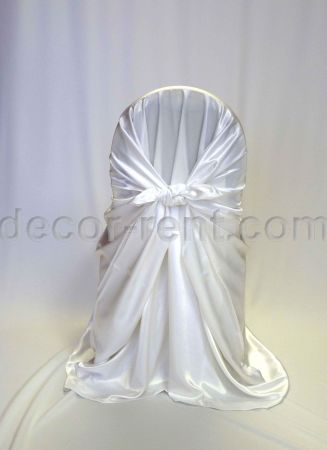 White Satin Chair Wrap (pocket style)