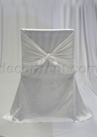 White Satin Office Chair Cover. Toronto for Rent