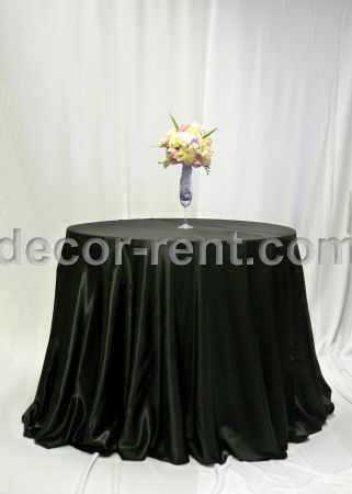 Black Satin Linen Rental