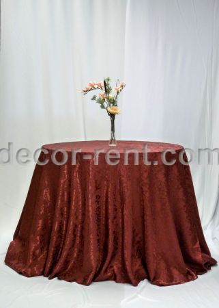 Burgundy Brocade Tablecloth Rental