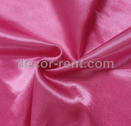 Fuchsia Hot Pink Satin Tablecloth Rental