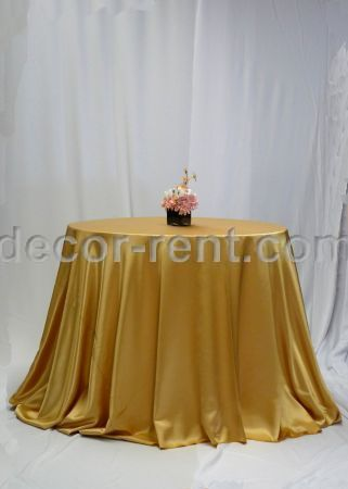 Gold Satin Tablecloth Rental