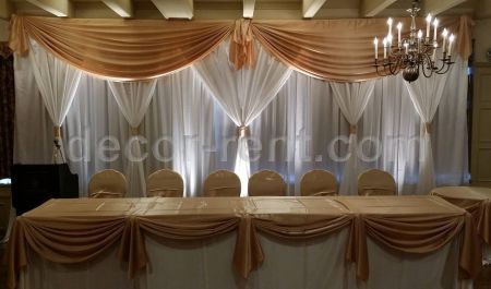Gold and White Wedding Backdrop