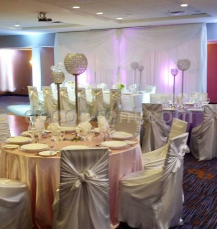 King Head Table and Backdrop
