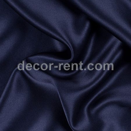 Navy Satin Linen Rental