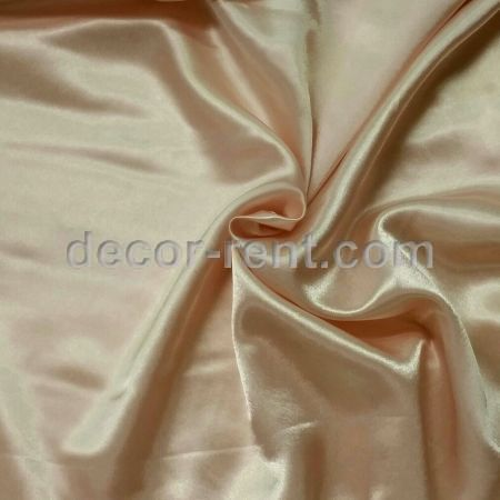 Peach Satin Linen Rental