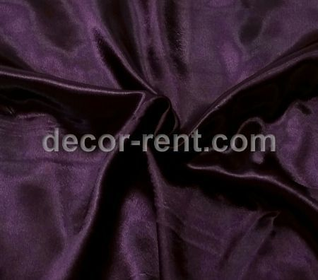 Purple Plum Satin Table Linen Rental