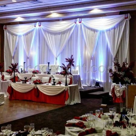 rent wedding decorations chair cover amp linen rentals toronto wedding backdrops 7065