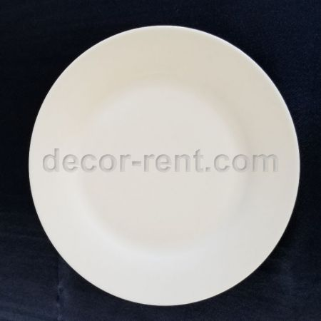 7 inch White Side Plate Rental