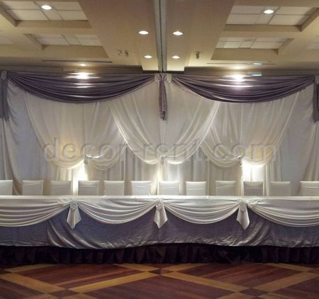 Wedding Backdrop Silver and White
