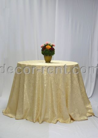 Soft Gold Brocade Linen Rental