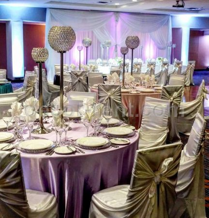 Chair cover linen rentals toronto wedding decor rentals wedding chair cover rentals tablecloth and linen rentals toronto company wedding event decor rentals in toronto for over 17 years junglespirit Images