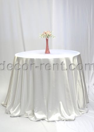White Satin Linen Rental