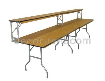 Wood Bar Buffet Table Rental