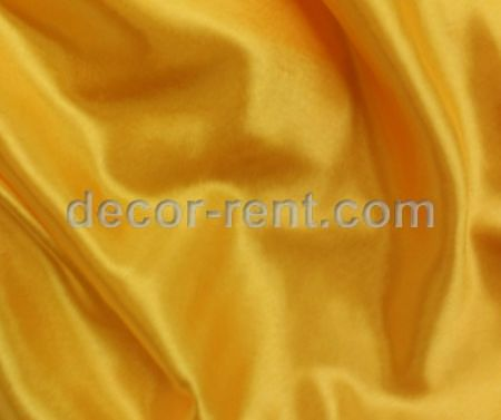 Yellow Satin Linen Rental